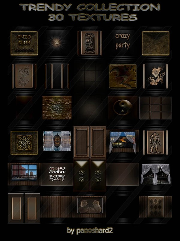 TRENDY COLLECTION  30 TEXTURES FOR IMVU ROOMS