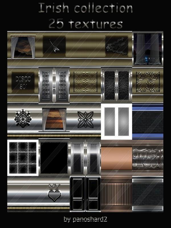 Irish collection 25 textures for imvu room