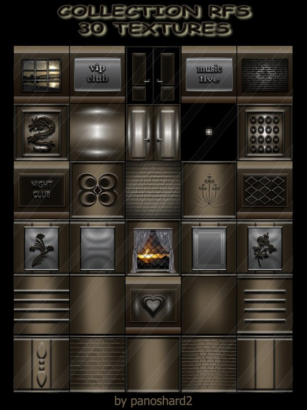 COLLECTION RFS  30 TEXTURES FOR IMVU CREATOR ROOMS (will be sold to ten creators)