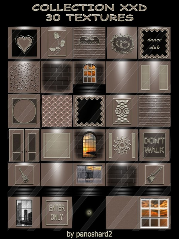 COLLECTION XXD 30 TEXTURES  FOR IMVU CREATOR ROOMS