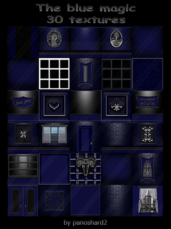 The blue magic 30 textures for imvu creator   (will be sold to ten creators)