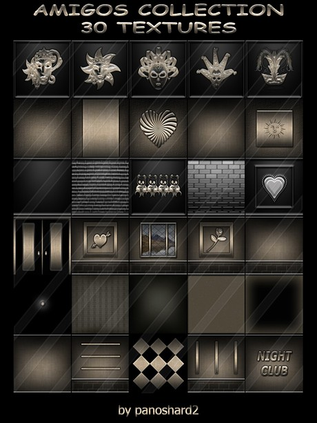AMIGOS COLLECTION 30 TEXTURES FOR IMVU CREATOR ROOMS (will be sold to ten creators)