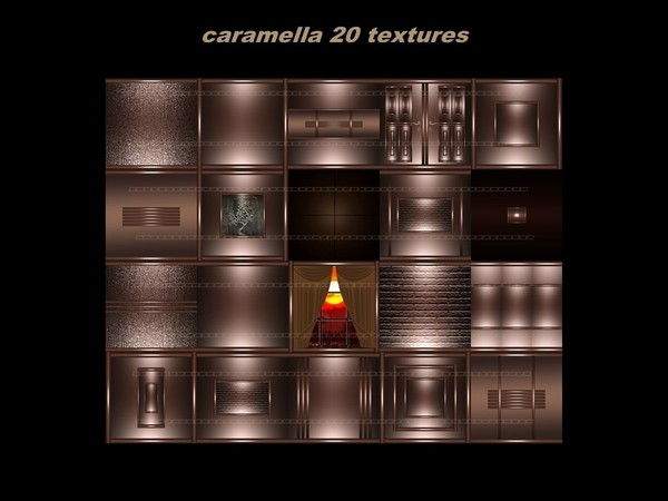 CARAMELLA 20 textures FOR IMVU CREATOR ROOMS