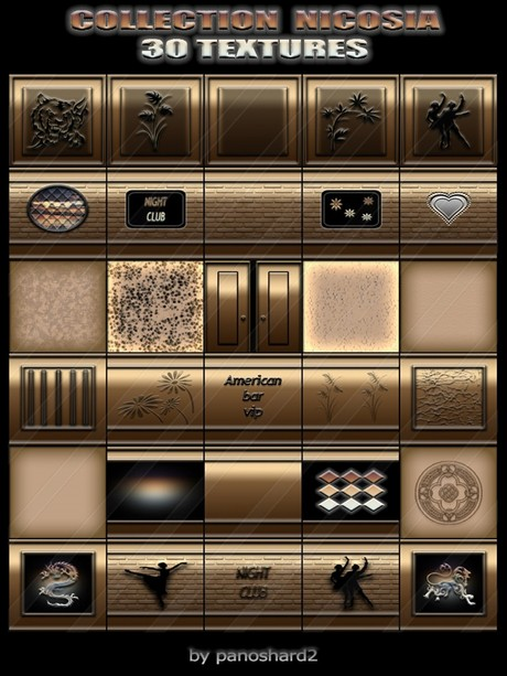 COLLECTION  NICOSIA 30 TEXTURES  FOR IMVU CREATOR ROOMS  (will be sold to ten creators)