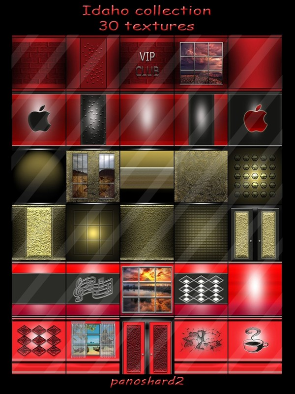 Idaho collection 30 textures for imvu rooms