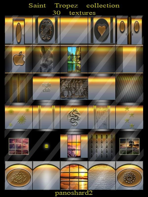 Saint Tropez collection 30 textures for rooms