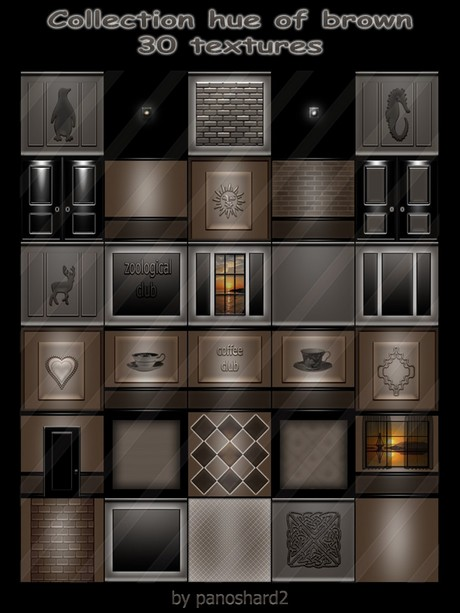 Collection hue of brown 30 textures  for imvu creator rooms  (will be sold to ten creators)