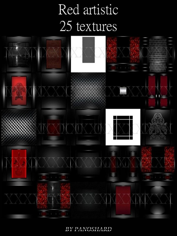 Red artistic 25 textures for imvu rooms