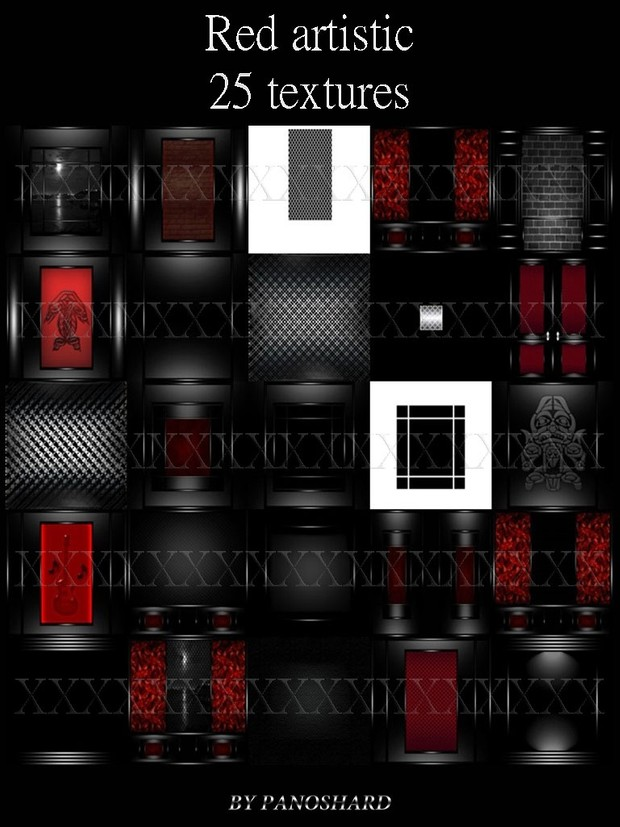 Red artistic 25 textures imvu room