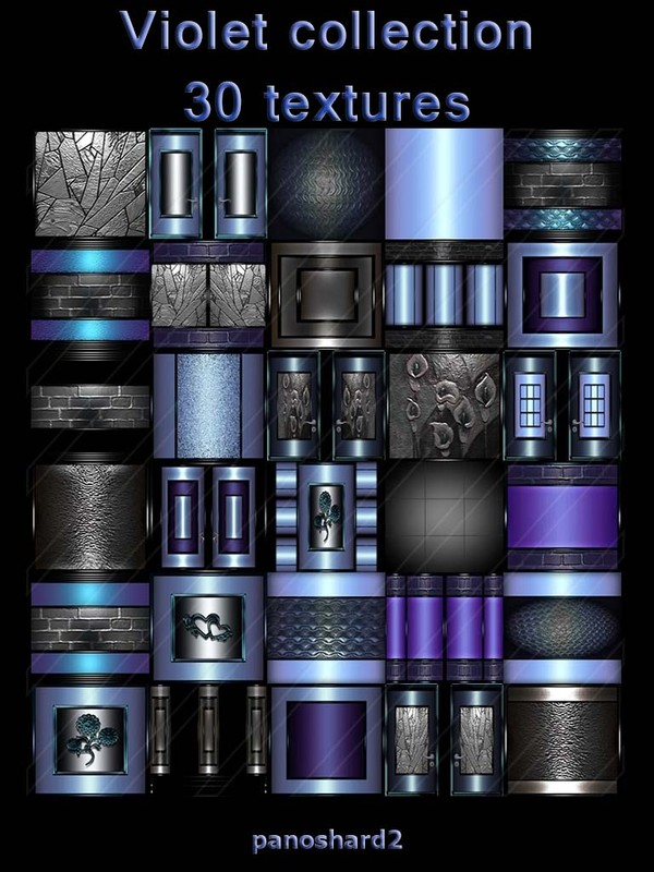 Violet collection 30 textures for imvu rooms