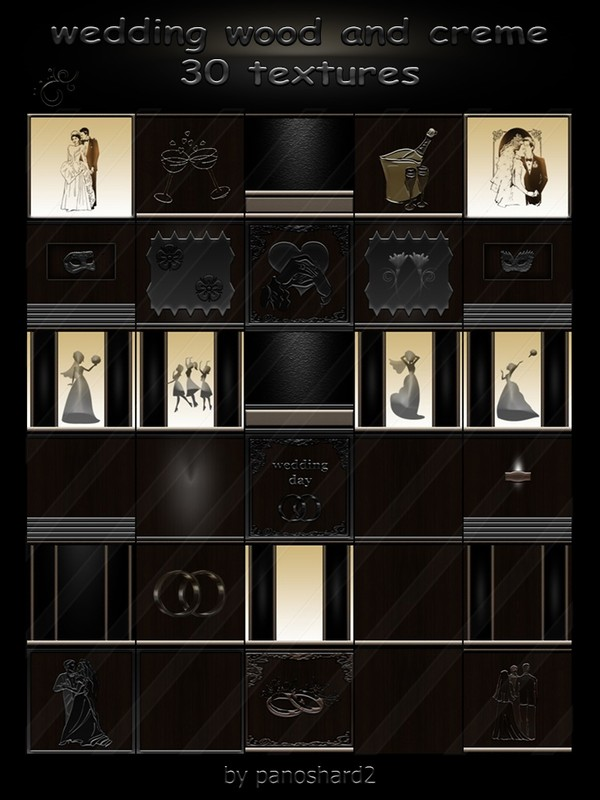 Wedding wood and creme 30 textures for imvu rooms