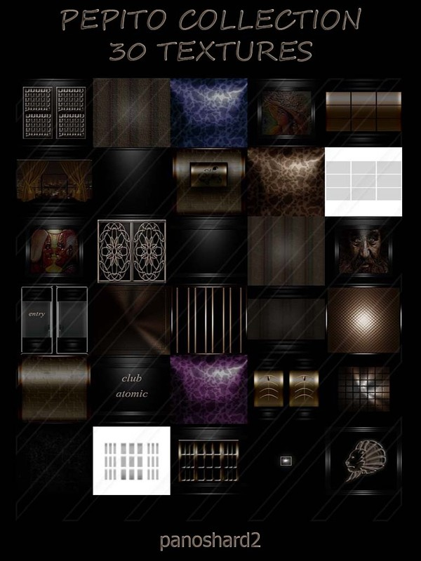 Pepito collection 30 textures for imvu room