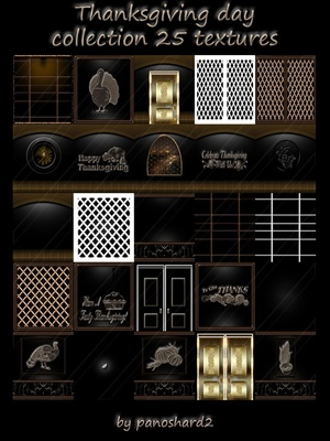 Thanksgiving day collection 25 textures room