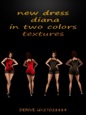 New dress diana in two colors textures for sale