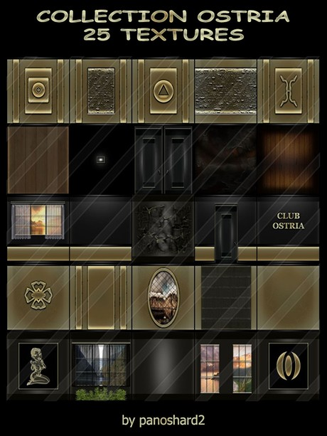 COLLECTION OSTRIA 25 TEXTURES FOR IMVU CREATOR ROOMS ( will be sold to ten creator)