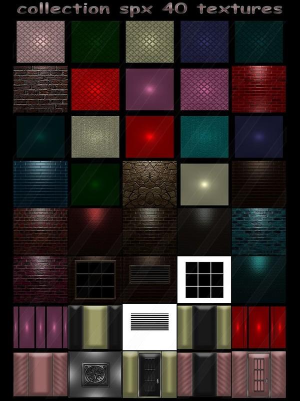 collection spx 40 textures (floor - wall - brick - windows - doors)