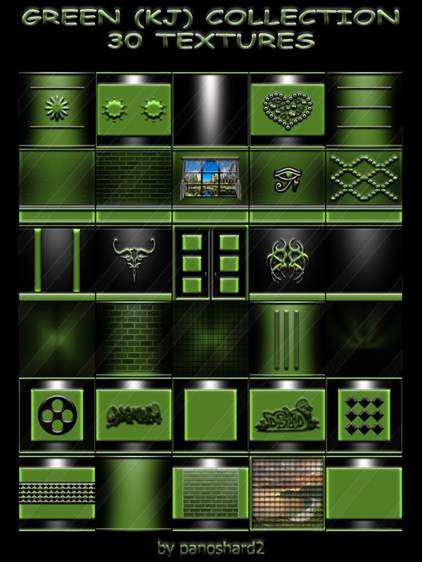 GREEN (KJ) COLLECTION 30 TEXTURES FOR IMVU CREATOR (will be sold to ten creators)