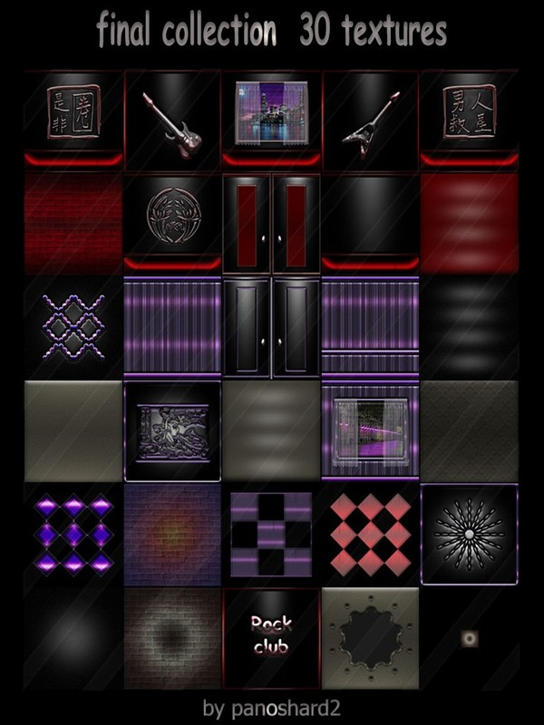 Final collection  30 textures for imvu rooms  (will be sold to 10 creators)