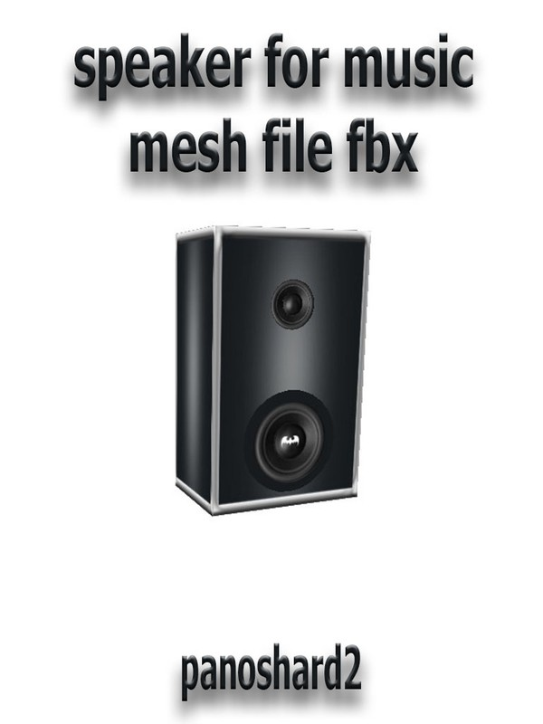 speaker for music mesh file fbx