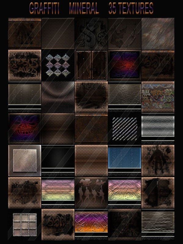 GRAFFITI MINERAL 35 TEXTURES FOR IMVU ROOMS