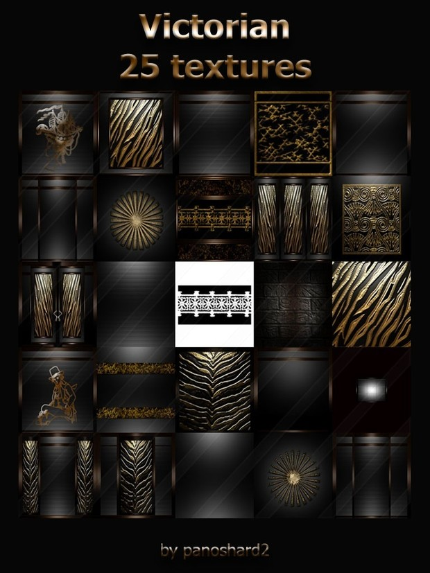 Victorian 25 textures for imvu room