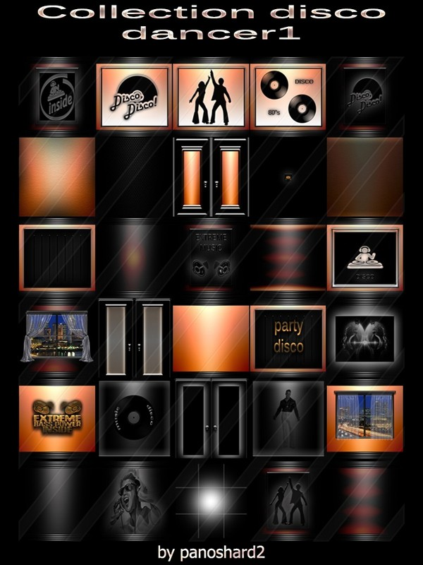 Collection disco dance1  30 textures for imvu creator rooms (will be sold to ten creators)