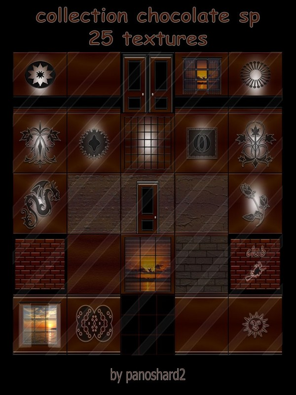 Collection chocolate sp 25 textures for  imvu rooms