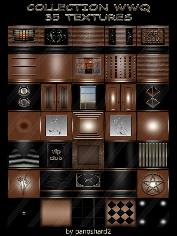 COLLECTION WWQ 35 TEXTURES FOR IMVU CREATOR ROOMS ( will be sold to ten creator)