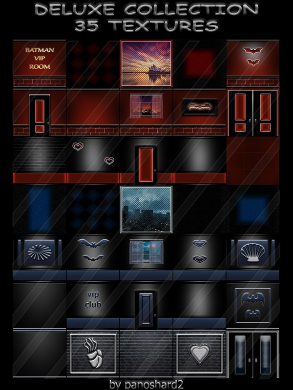 DELUXE COLLECTION 35 TEXTURES  FOR IMVU CREATOR ROOMS (will be sold to ten creators)