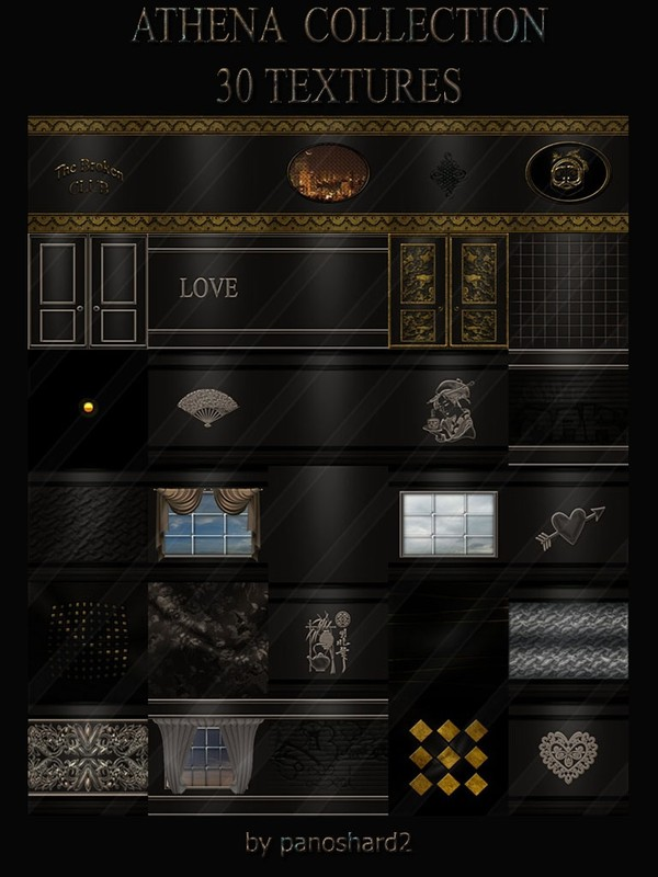 ATHENA  COLLECTION  30 TEXTURES  FOR IMVU ROOM