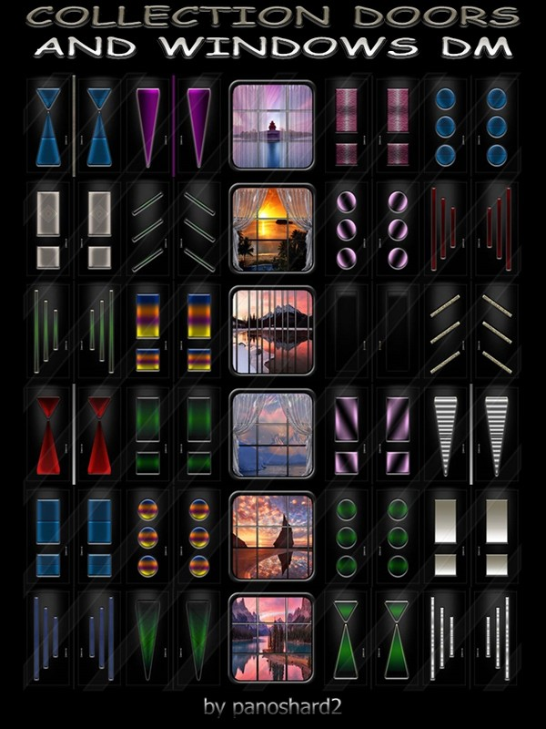COLLECTION DOORS AND WINDOWS DM 30 TEXTURES FOR IMVU ROOMS  (will be sold to ten creators) prevent !