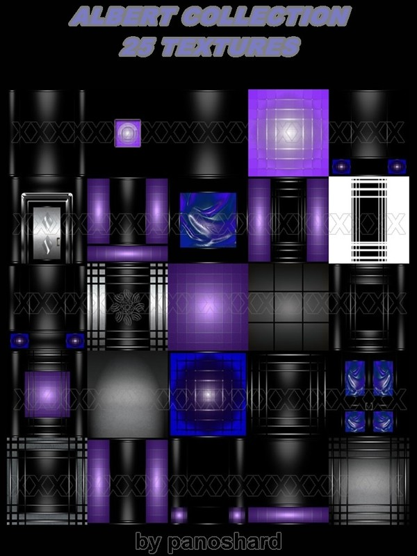 ALBERT COLLECTION 25 TEXTURES ROOM IMVU