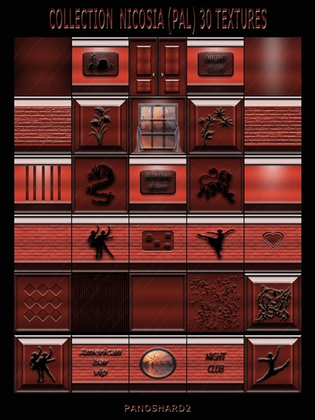 COLLECTION  NICOSIA (PAL) 30 TEXTURES FOR IMVU CREATOR ROOMS (will be sold to ten creators)
