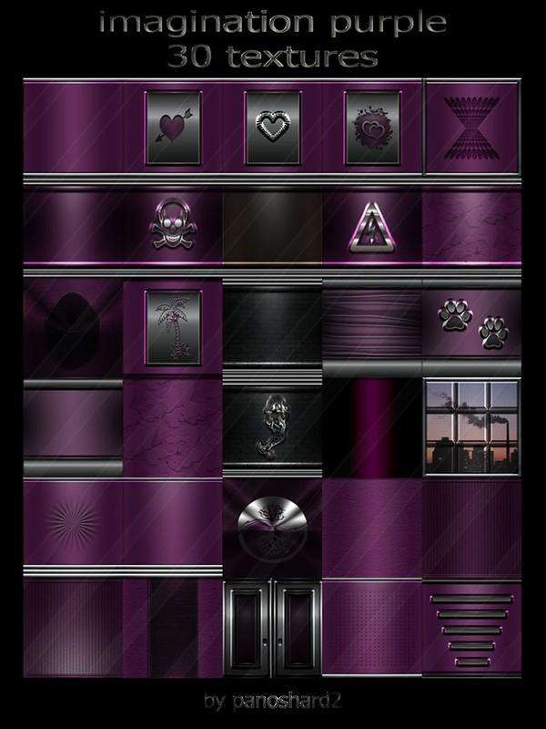 imagination purple 30 textures