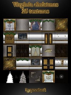 Virginia christmas 25 textures textures imvu
