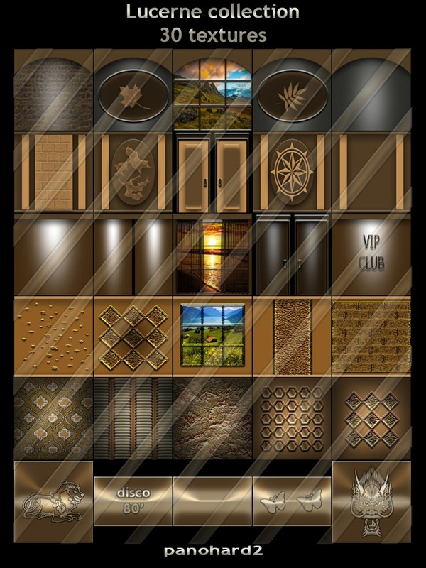 Lucerne collection 30 textures for imvu rooms