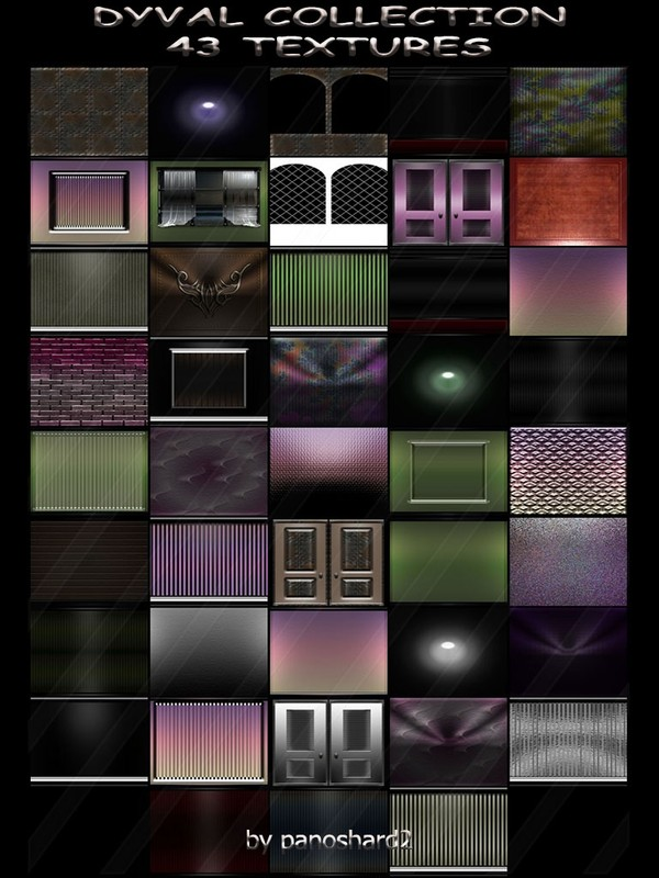 DYVAL COLLECTION 43 TEXTURES FOR IMVU ROOMS