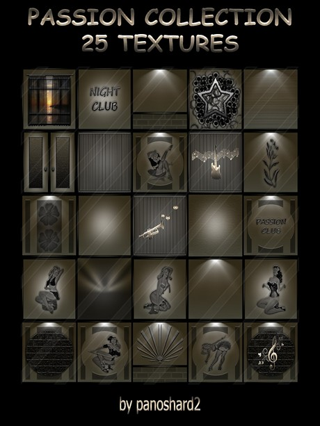 PASSION COLLECTION 25 TEXTURES FOR  IMVU CREATOR ROOMS ( will be sold to ten creator)