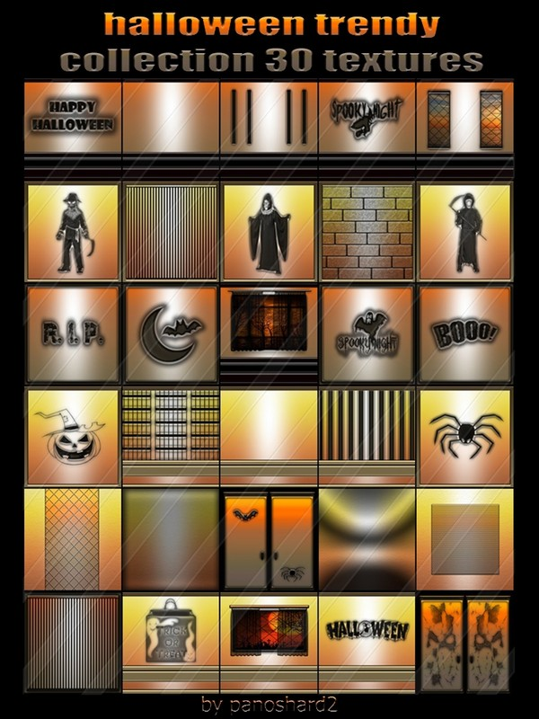 halloween trendy collection 30 textures for imvu creator rooms  ( will be sold to ten creator)