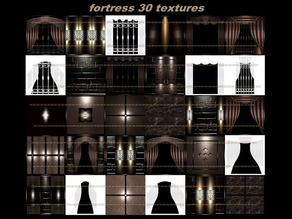 Fortress 30 textures FOR IMVU CREATOR ROOMS