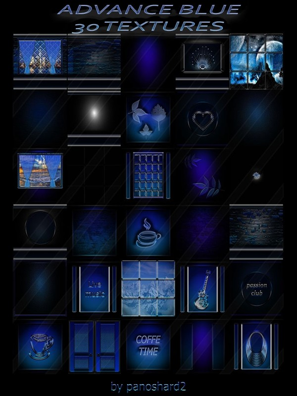 ADVANCE BLUE  30 TEXTURES FOR IMVU ROOMS