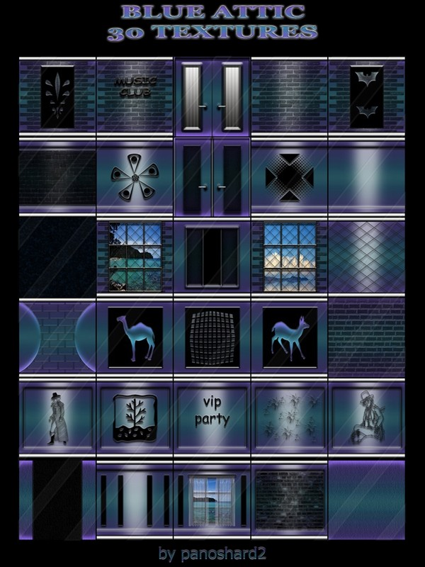 BLUE ATTIC  30 TEXTURES  FOR IMVU CREATOR ROOMS (will be sold to ten creators)
