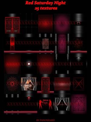 Red Saturday Night 25 textures imvu