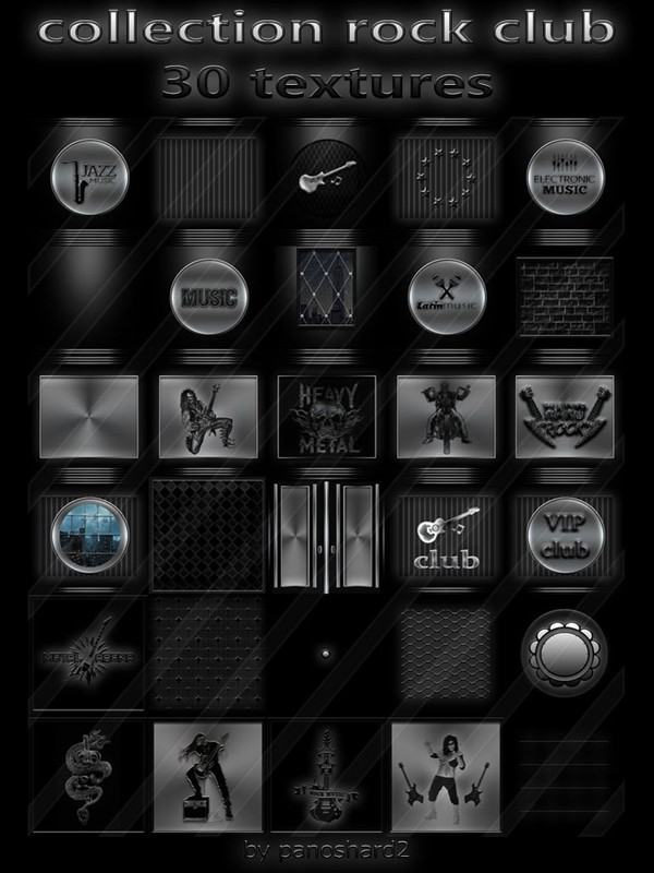 collection rock club 30 textures  for imvu creator (will be sold to ten creators)