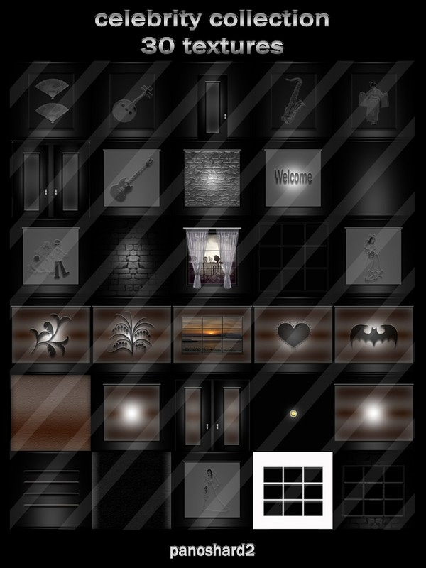celebrity collection 30 textures for imvu rooms