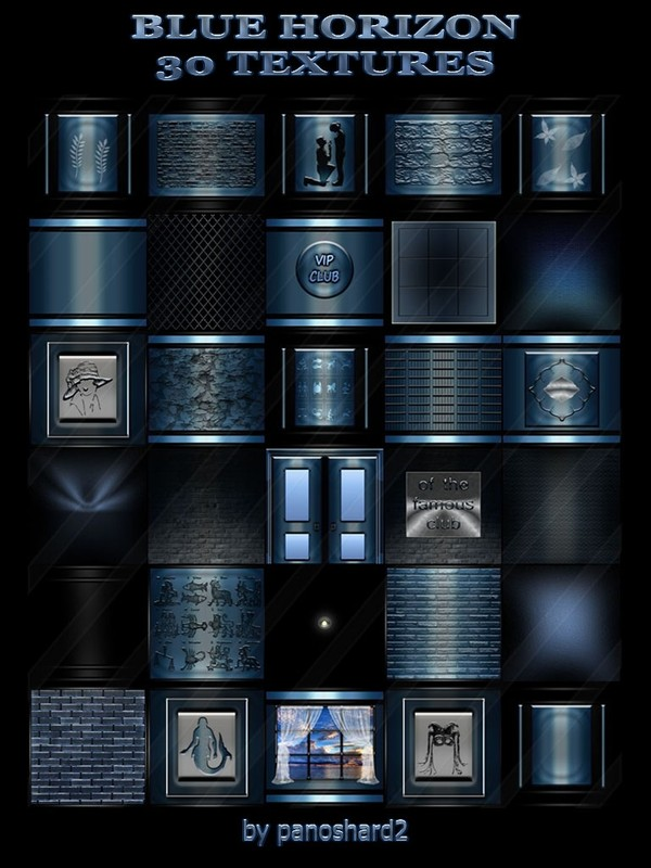 BLUE HORIZON 30 TEXTURES FOR IMVU ROOMS