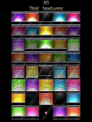40 teal textures room