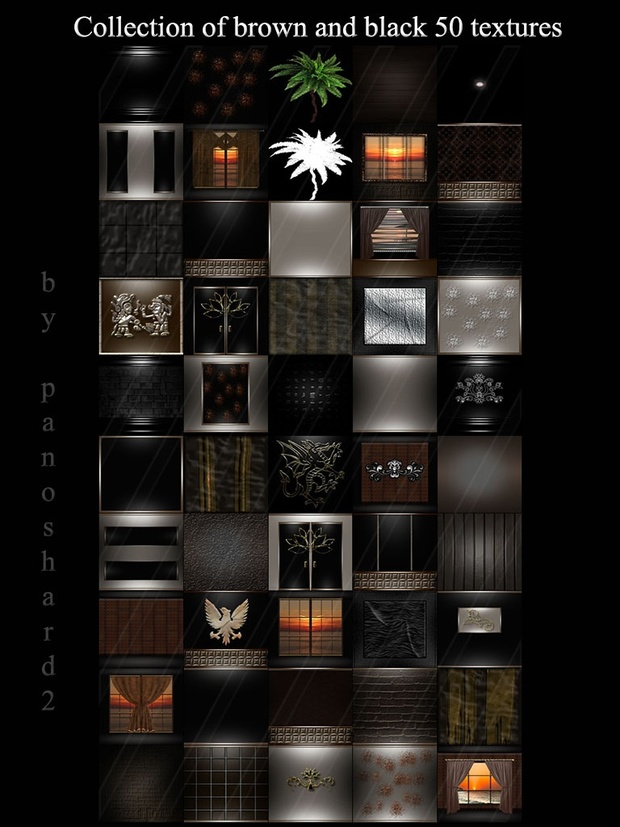 Collection of brown and black 50 textures