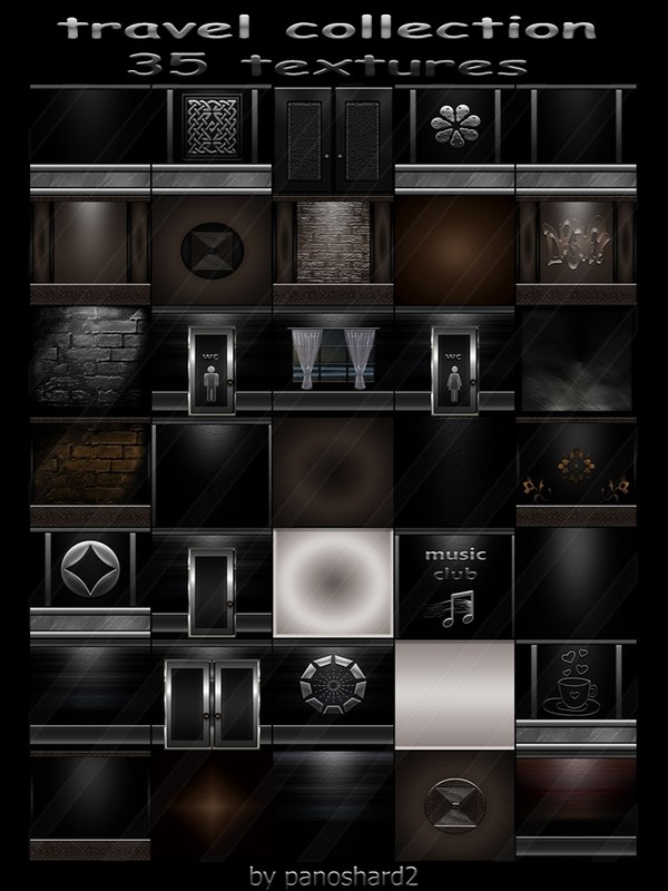 Travel collection 35 textures for imvu rooms