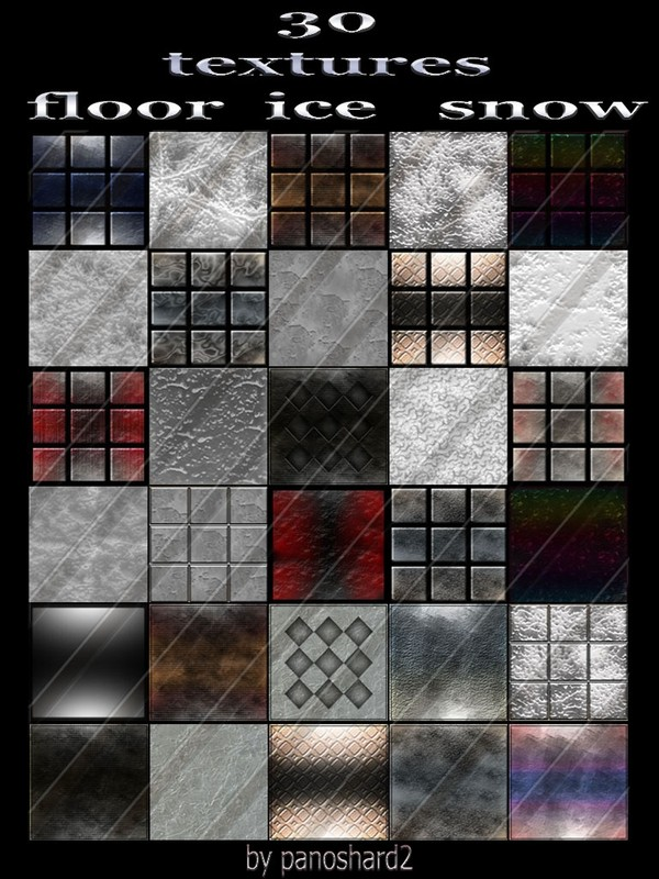 30 textures  floor  ice  snow   256x256  for imvu rooms